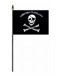 Pirate Commitment to Excellence Hand Flag - Small
